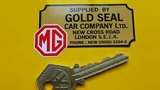 MG Gold Seal Car Company London Dealer STICKER 70mm Classic MGB RV8 Midget TF ZB