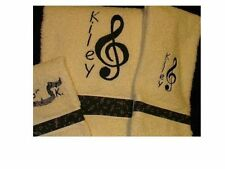 """Music Note """"His & Hers"""" Towel Sets (6 pieces)"""