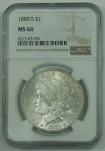 1880-S 1880 S Morgan Silver Dollar NGC MS66 High Grade US Antique Coin  026