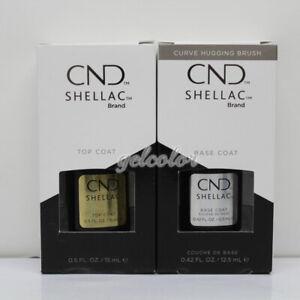 NEW with box CND Shellac Base / Top  Coat LED/UV Large size Pick Any Your Choice