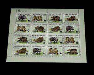 TOPICAL, ANIMALS, GUINEA, 2009, WILDLIFE, WWF, SHEET/16, MNH, LOT #97, LQQK