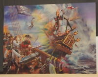 PIRATE SHIP poster - 3D Lenticular Double Image 395mm X 295mm unframed