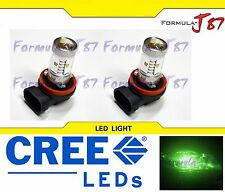 CREE LED 30W H11 Green Two Bulbs Fog Light Replacement Plug Play Show Use Lamp