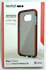 Tech21 45023BBR Evo Check Case for Samsung Galaxy S6  - Smokey/Red