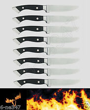 Longhorn Steakhouse Steak Knives 8 Knife Set BBQ Kitchen Dining Chop Camping New