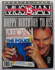 STING THEN & NOW August 1991 MUSICIAN Magazine STEVIE WONDER  GARY BURTON  ICE-T