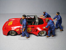 4  FIGURINES 1/43  SET 266  MECANOS  PORSCHE  RSR  VROOM  UNPAINTED  NO  SPARK