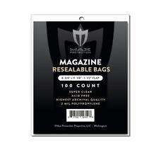 100 Max Pro Ultra Premium Resealable Magazine Bags - 8-3/4 x 11-1/8 - Acid Free