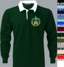 """TO CLEAR ESSEX REGIMENT RIFLE GREEN RUGBY SHIRT 3XL FIT TO 53"""" CHEST"""