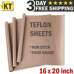 3 PTFE Teflon Transfer Sheets for Iron Heat Press Non Stick Resistant Reusable