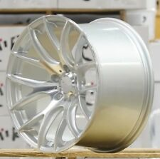 "18"" Miro 111 Silver Machined Staggered Wheels 18x9.5 +20 / 18x10.5 +40 5x120"