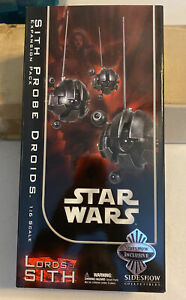 """Sideshow 12"""" Sith Probe Set - Exclusive 1:6 With Original shipping box NRFB"""