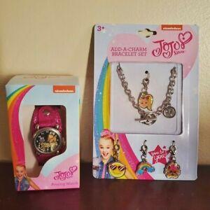 NWT JoJo Siwa Lot. Watch and Charm Bracelet. Brand New. Nice.