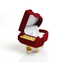 Nice Design Piano Ring Box Earring Pendant Wedding Jewelry Treasure Gift Case