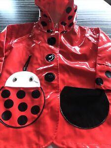 Kidorable Raincoat Size Eur 80/86 Kids Ladybird Red Waterproof Rain Mac Coat