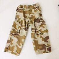 Wonder Kids Camo 3T Pants Camoflauge Cotton Elastic Waist Cargo Pockets