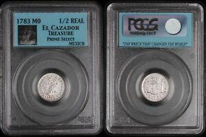 1783Mo 1/2 Real Mexico - El Cazador Treasure PCGS Prime Select - KM# 69.2