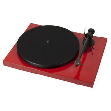 Pro-Ject Debut Carbon USB Plattenspieler (Rot) incl. Haube + Ortofon OM10 NEU!