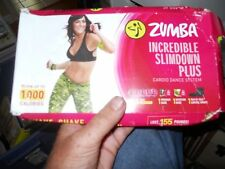 Zumba Incredible Slim down  DVD 1-5 new PLUS CONTROL WRAP AND GUIDE