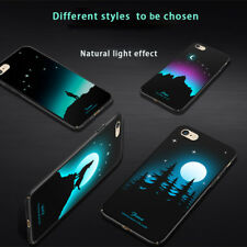 Luminous Fluorescent Color Changing Hard Case Cover For iPhone 6/7/8/X