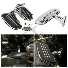 Chrome Streamline Passenger Floor Board & Bracket Set For Harley Touring 93-18
