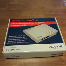 Arcor StarterBox - ISDN NTBA DSL-Splitter digital/analog Wandler