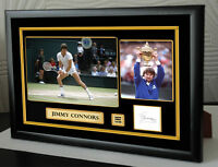 "Jimmy Connors Framed Canvas Signed Tribute "" Great Gift """