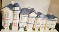 Set of 4 Vintage 1988 HEARTH and (VICTORIAN STYLE) HOME CERAMIC CANISTER SET~EUC