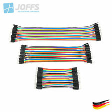 40 x 10cm, 20cm o. 30cm Jumper Kabel - Dupont Cable - Breadboard Wire f. Arduino