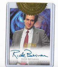 Star Trek DS9 Complete Rick Berman,  Autograph Card
