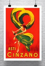 Asti Cinzano Vintage Liquor Advertising Poster Rolled Canvas Giclee 24x34 in.