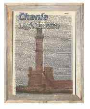 Chania Lighthouse Crete Altered Art Print Upcycled Vintage Dictionary Page