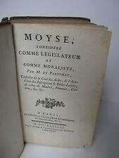 Edition 1788 -MOYSE considéré COMME LEGISLATEUR ET MORALISTE par M. DE PASTORET