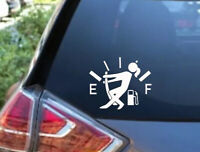 Gas Consumption Vinyl Decal, Sticker, Gas Tank , Fuel Gauge, JDM, Empty, Funny !