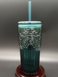 New Starbucks China 2020 Anniversary 591ml Green Siren Logo Glass Tumbler