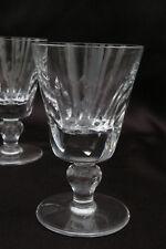 St Louis modèle Jersey -  Verres à vin H 11,3cm cristal taillé