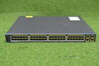 Cisco WS-C2960-48PST-S Catalyst 2960 Series 48xPoE 2xSFE Switch - 1 YrWty