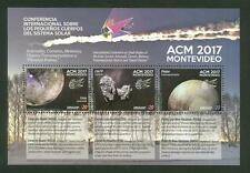 ASTEROIDS COMETS METEORS SPACE ASTRONOMY CONFERENCE URUGUAY 2017 MNH STAMP S/S