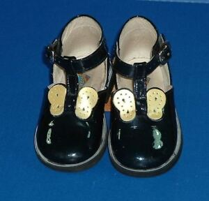 Arcobaleno Made in Italy Girls Blue Patent Shoes Butterfly US 4 EUR 20 9-12M