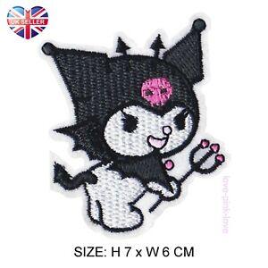 🌸 KUROMI SANRIO Kawaii Full Embroidered Applique Iron Sew On Patch Badge UK 🌸