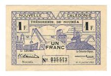 New Caledonia  - One (1) Franc, 1942