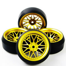 4X BBG+PP0367 3Degree Drift Tires Wheel Rim For HSP Racing 1:10 RC On-Road Car