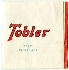 Old Advertising Brochure: TOBLER CHOCOLATES