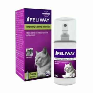 Feliway Classic 20ml Spray Comforts Cats and Helps Solve Behavioural no boxes