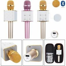 Q7 Wireless Mini Karaoke Microphone KTV Bluetooth Player Mic Speaker For iPhone