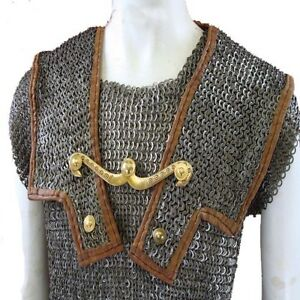 9mm Large Size,Chainmail Roman Lorica Hamata Wedge Rivited With Warser