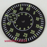 38.5mm Black Sterile Dial parnis fit 6497 ST 3600 3620 movement