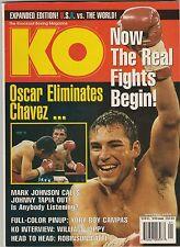 KO MAGAZINE OSCAR De La HOYA-JULIO CESAR CHAVEZ Sr BOXING HOFers JANUARY 1999