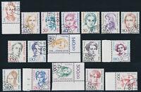BERLIN 1987/1989, Freimarken Frauen, 17 Werte komplett gestempelt, Mi. 200,-