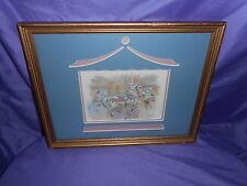 Vtg Homco Home Interior Carousel Horse Picture J Gibson Gold Frame Cutout Mat